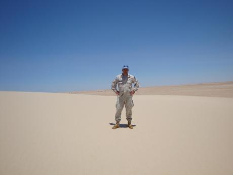 7 Ιουνίου 2009, ο Carlos Benitez στην τελευταία περιπολία του, στους λευκούς αμμόλοφους γύρω από το σημείο S14